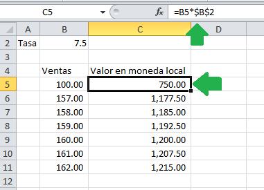 Ejemplo de fórmula por el método tradicional