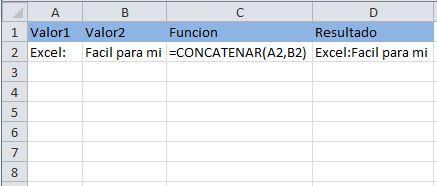 Función de Texto: CONCATENAR, combina uno o más textos