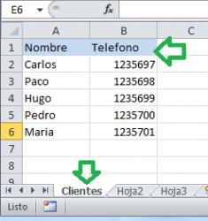 Vista de como configurar hoja de calculo para usar formularios