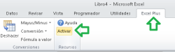 Activar Excel Plus