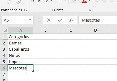 Agregar elementos a una lista desplegable