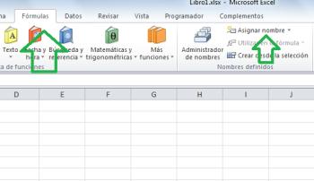 asignar nombre constante de Excel