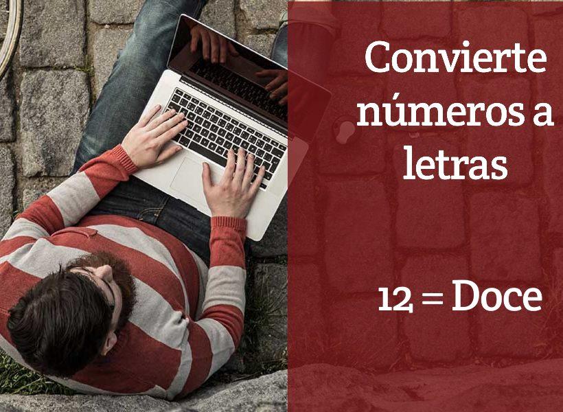 Convertir numeros a letras en excel