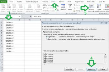 Converitr texto para cambiar a formato de fecha en Excel