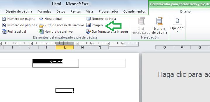 Insertar una imagen en encabezado de Excel