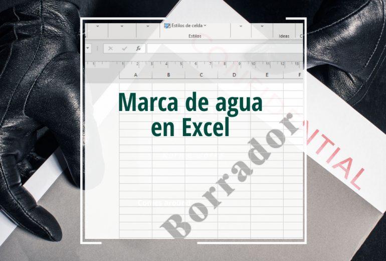 Marca de agua en Excel