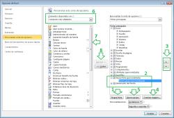 Opciones para personalizar el menu de Excel